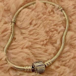 Pandora Moments Sparkling Pave Clasp Bracelet